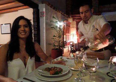 Cena Romántica Santafe de Antioquia